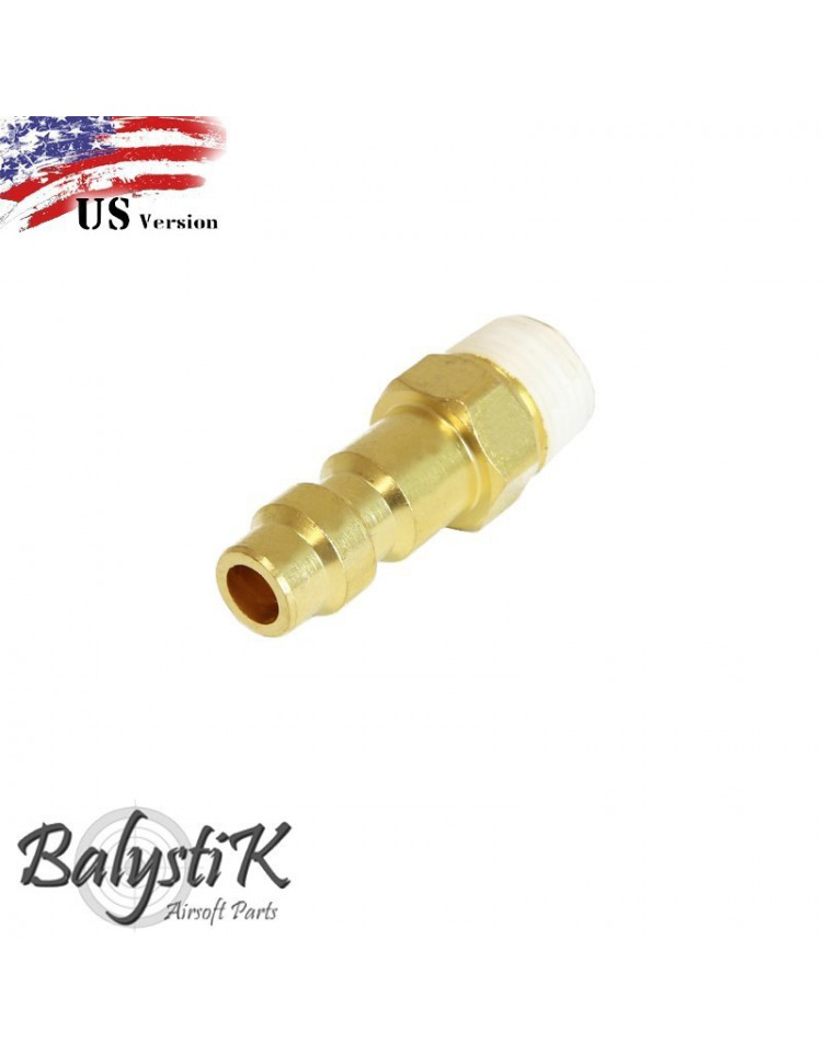 coupleur male avec entrée 1/8 NPT male (version US) - BALYSTIK