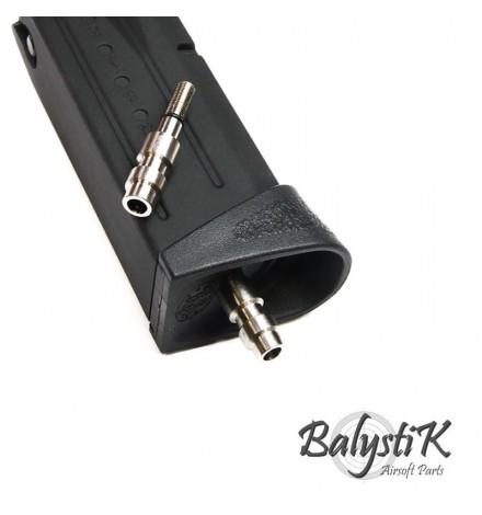 Valve HPA sans perçage pour chargeur GBB KJ/WE (Version US) - BALYSTIK