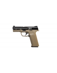 PACK PISTOLET GBB BLACK LÉOPARD EYES ALPHA TAN/NOIR - ICS