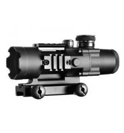 Tactical scope 4x32 avec reticule lumineux