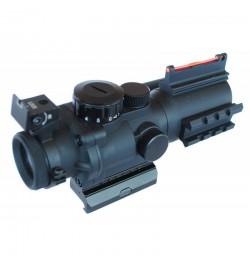 Lunette sniper LT 4x32 point rouge/vert