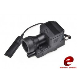 Lampe LED 200 lumens + laser rouge - ELEMENT