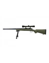 Sniper VSR10 OD avec lunette de visée + bipied - SNOW WOLF