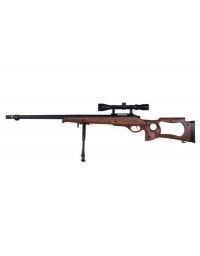 Sniper MB10D type bois avec lunette de visée 3-9x40 et bipied - WELL