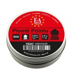 Plombs 4,5 mm tête pointue boite de 500 - EUROP'ARM