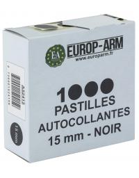 Pastilles autocollantes Noires 15 mm
