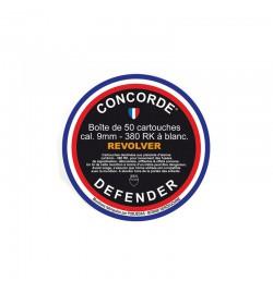 Boîte de 50 cartouches 9 mm à blanc RK pour revolver - CONCORDE