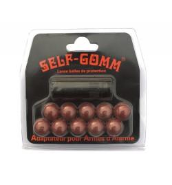 Adaptateur pour armes d'alarme + 10 projectiles Self Gomm 8 mm