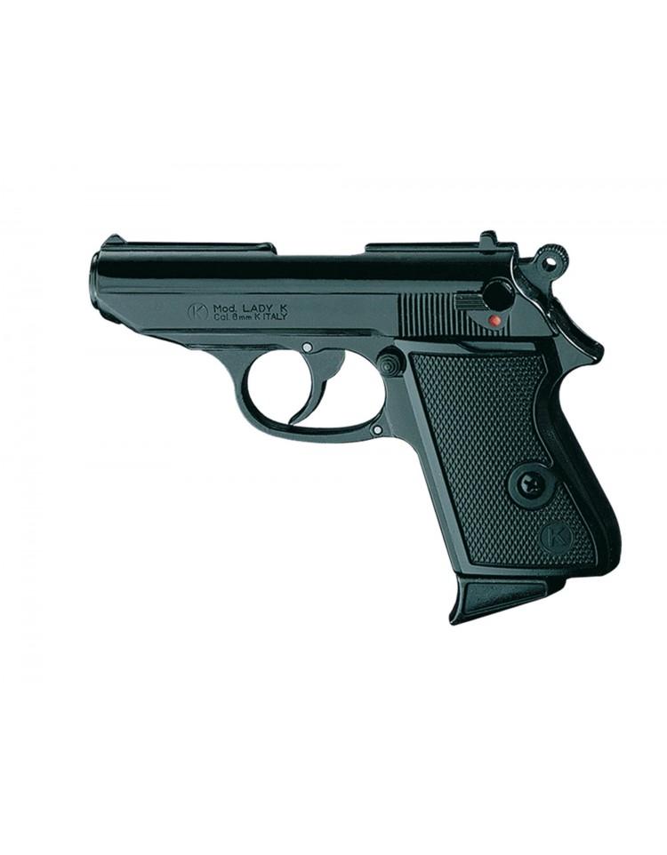 Pistolet 92 nickele chromé balle à blanc - CHIAPPA