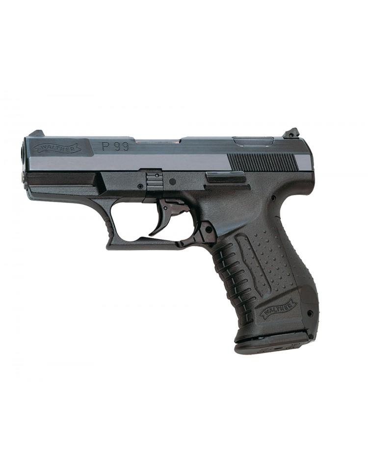 Pistolet WALTHER P99 chromé balle à blanc