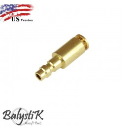 coupleur male avec entrée Macroflex 8mm (version US) - BALYSTIK