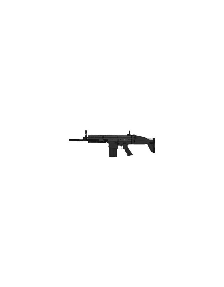 FN SCAR-H Noir GBBR Blowback - CYBERGUN ( 1bouteille de gaz+ chargeur Gaz offerts)