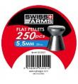 Plombs tête plate 5,5mm boite de 250 - SWISS ARMS
