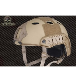 Casque en fibre carbon tan - EMERSON