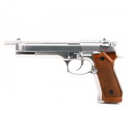 BERETTA M92L LONG chromé Blowback - WE