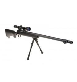 Sniper MB07D Noir avec lunette 3-9x40 et bipied - WELL