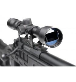 Sniper MB4408D Noir avec lunette 3-9x40 et bipied - WELL
