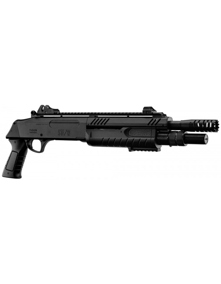 Fusil à pompe FABARM STF/12-11 SHORT spring 3 billes noir 0,8j - BO MANUFACTURE