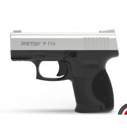 Retay P114 9mm P.A.K chromé mate balle à blanc - RETAY
