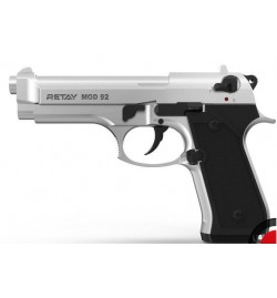 Retay MOD 92 9mm P.A.K chromé mate balle à blanc - RETAY
