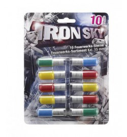 Pyro-Fusées 15mm Iron Sky (10 pièces)