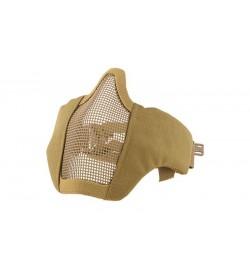 Masque grillagé tan avec attache pour casque - Ultimate Tactical