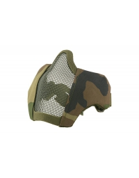Masque grillagé woodland avec attache pour casque - Ultimate Tactical