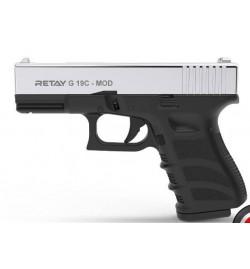Retay MOD 19C 9mm P.A.K nickel balle à blanc - RETAY