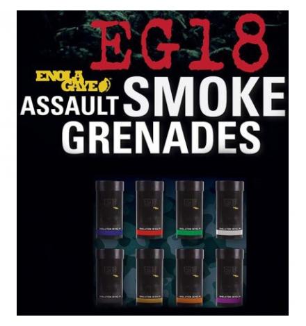 Fumigène EG18 grand format 120 secondes à goupille ENOLA GAYE