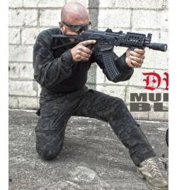 Tenue complète Multicam Black ( pantalon + combat shirt)