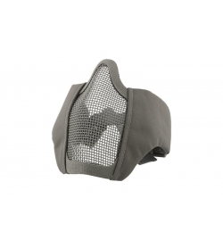 Masque grillagé gris avec attache pour casque - Ultimate Tactical